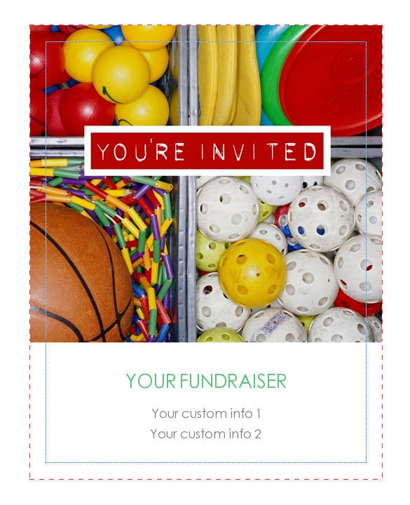 free online printable fundraiser invitation template