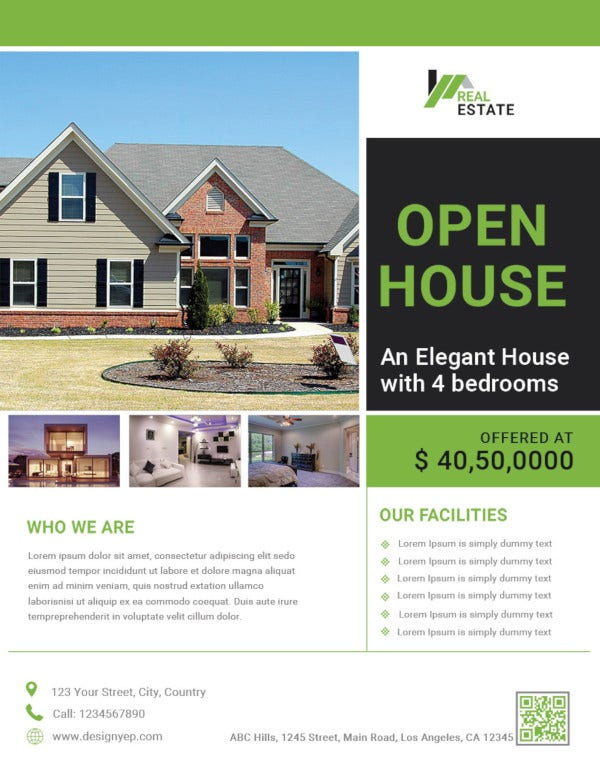 free open house promotion flyer