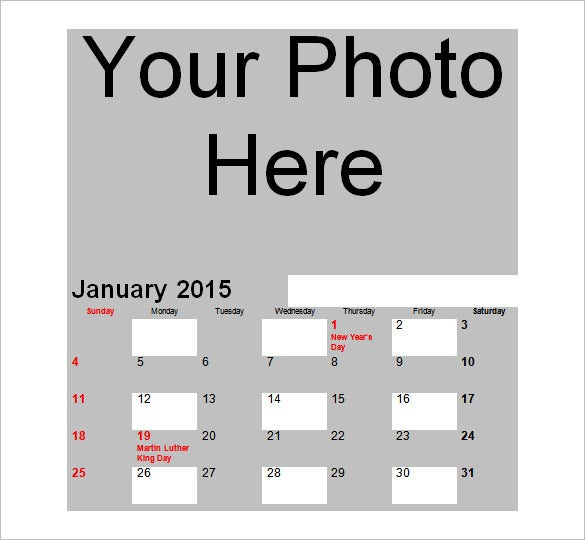 free photo calendar 2015 standard download