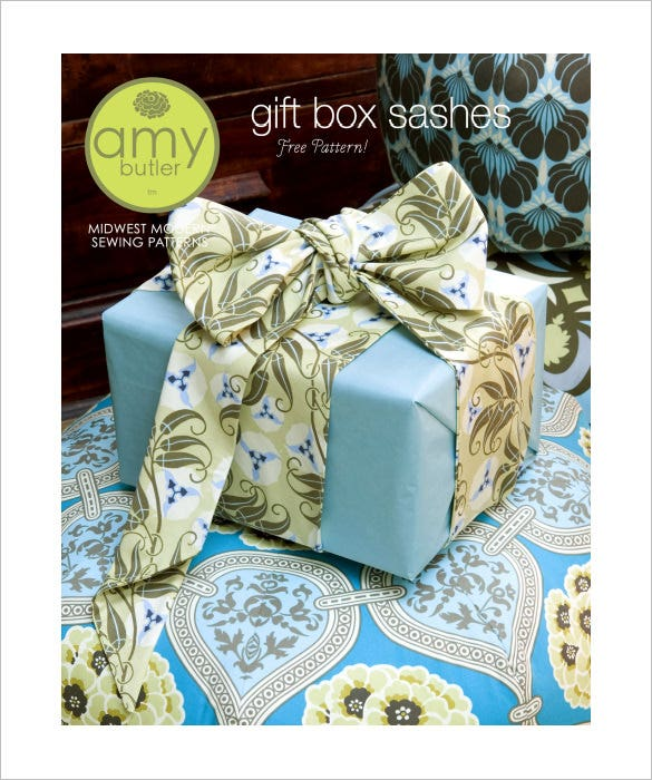 free print gift box template