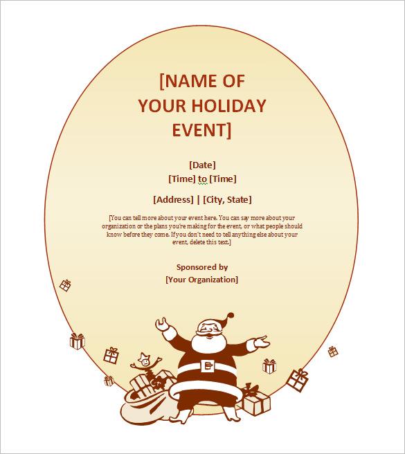 free christmas invitation templates - 50 microsoft invitation templates free samples