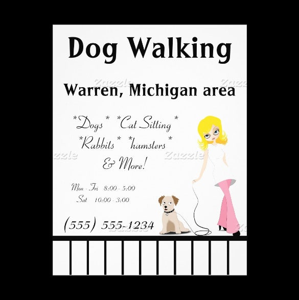 Free Printable Dog Walking Fundraising Fun Flyer  Free Printable Flyer Templates