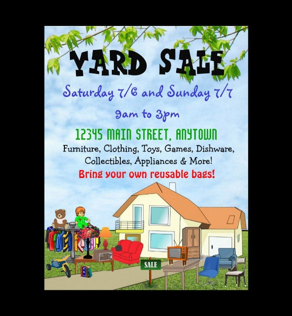 free yard sale flyer template koni polycode co