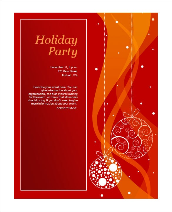 50 microsoft invitation templates free samples for Free holiday invitation templates