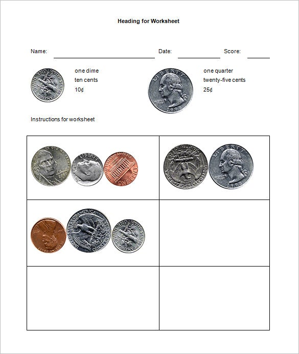 12 Money Math Worksheet Templates Free Word PDF Documents – Money Math Worksheets Free