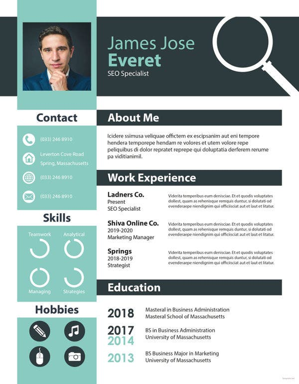 free-seo-resume-template