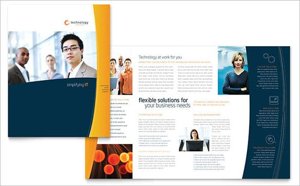 free sample brochure template design
