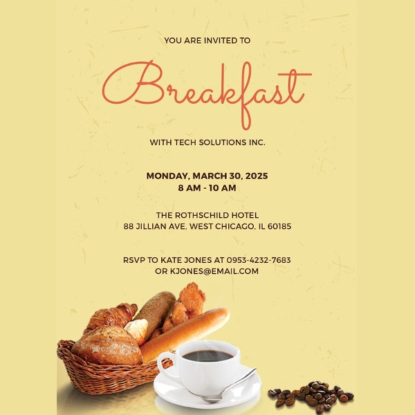 free-sample-company-breakfast-invitation-template