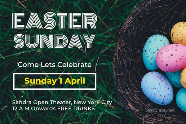 free sample easter sunday invitation template