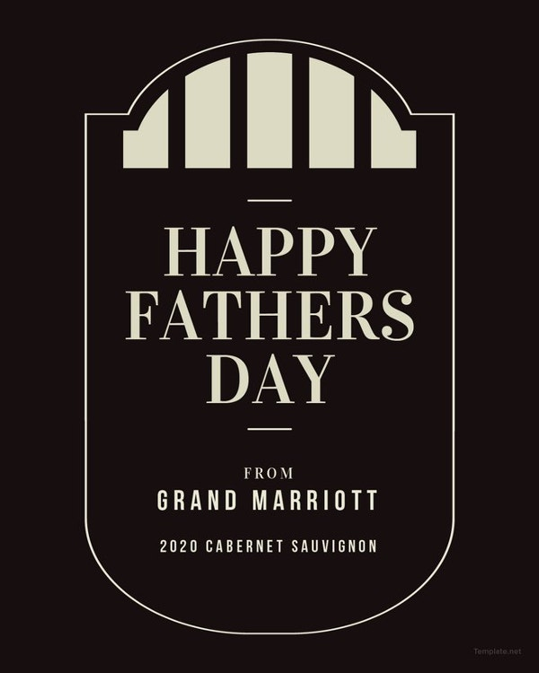 free sample fathers day wine label template