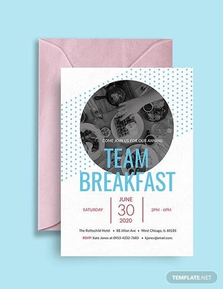 free team breakfast invitation