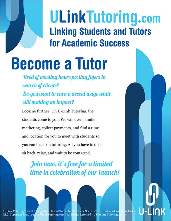 free templates for tutoring flyers