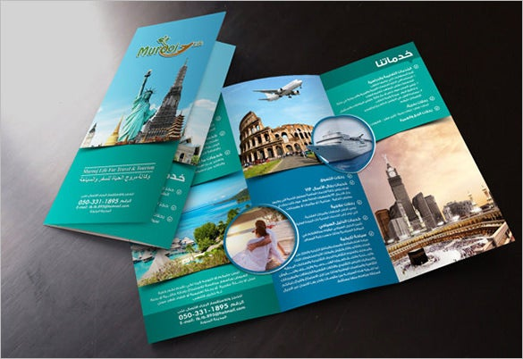 free travel flyer template download