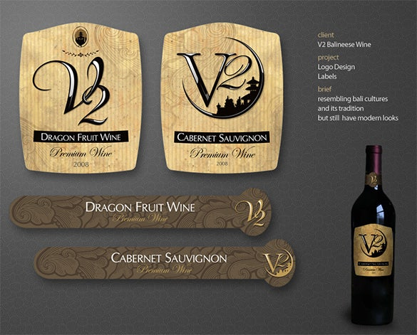 Free Wine Label Template Download  Free Wine Label Template