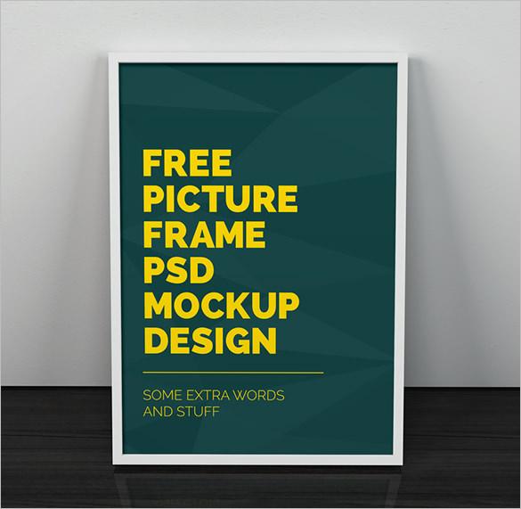 freebie artwork poster frame psd mockup
