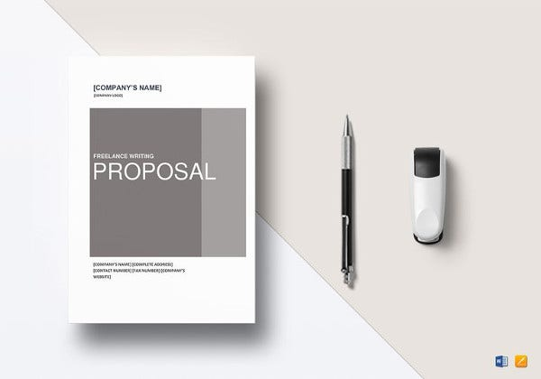 freelance writing proposal template in word