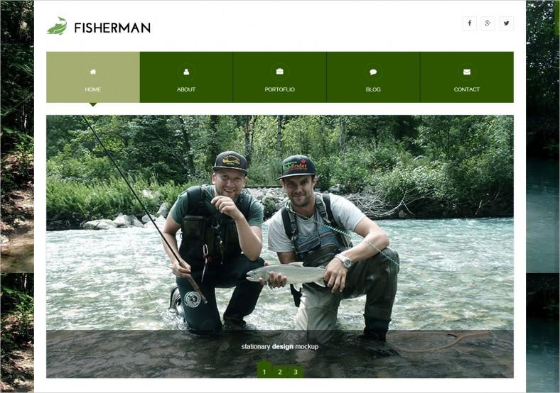 Full Screen Layout Fisherman Wp Template