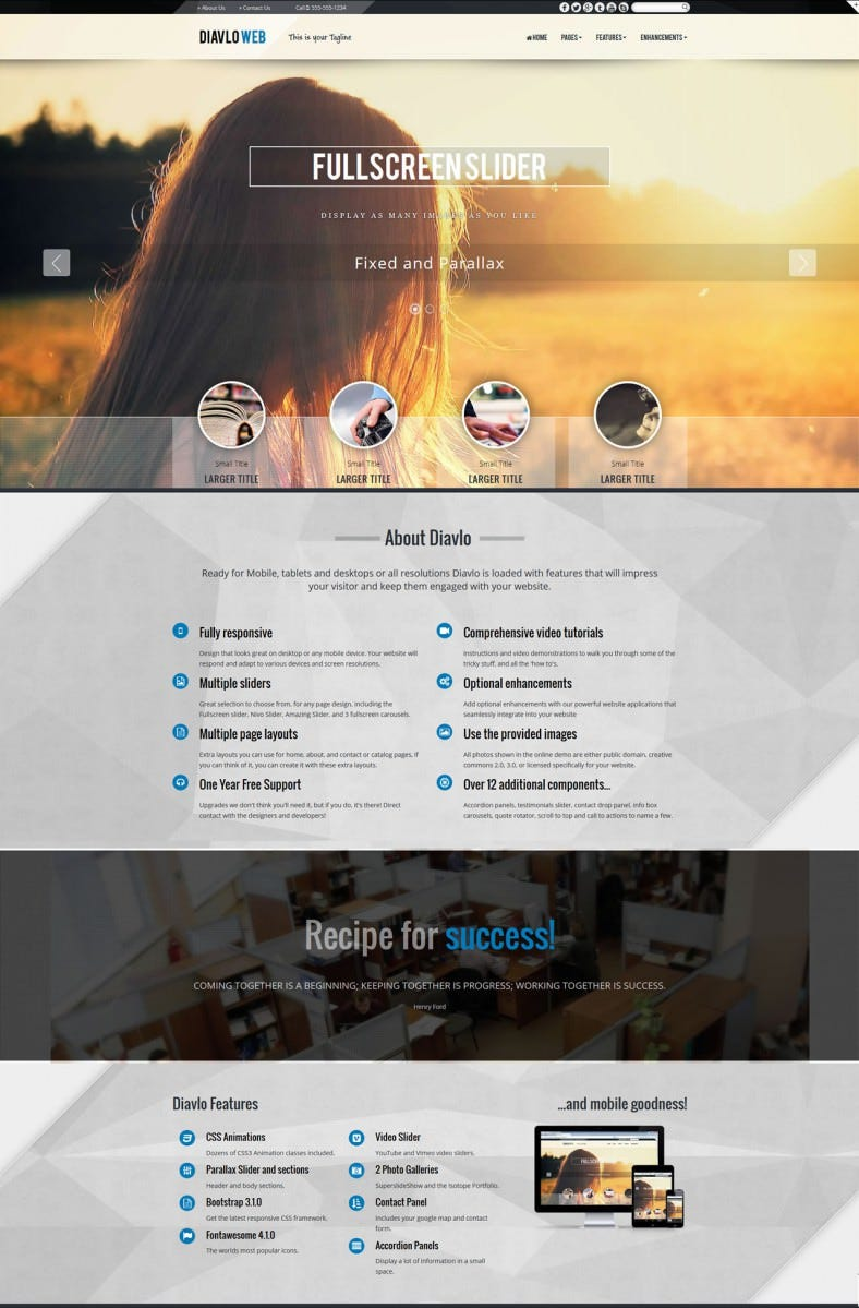 full screen slider expression web template 788x1199