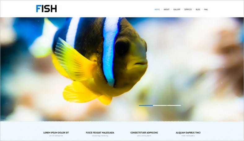 Fully Editable Wp Template for Fishing