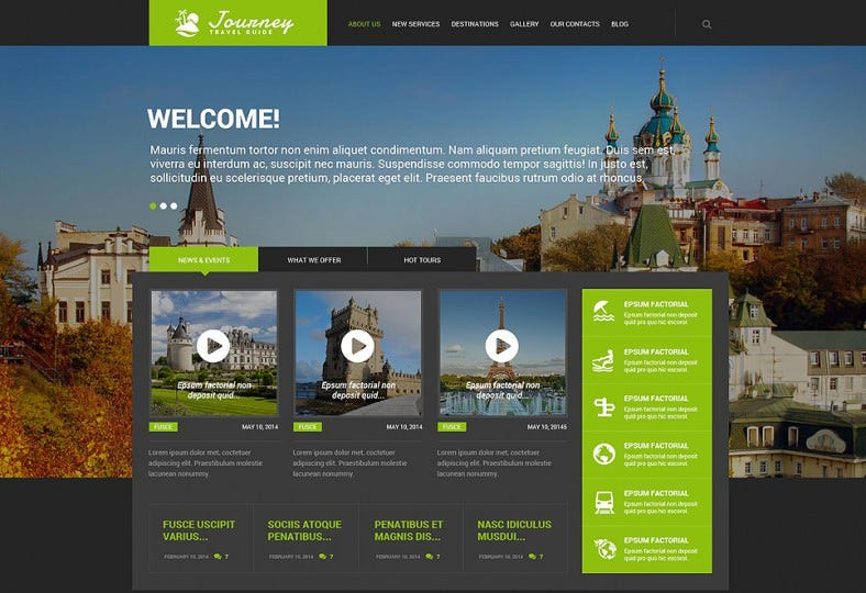 Fully Editable Wp Theme for Travel Guide