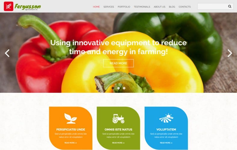 Fully Responsive Agriculture Sector Joomla Template