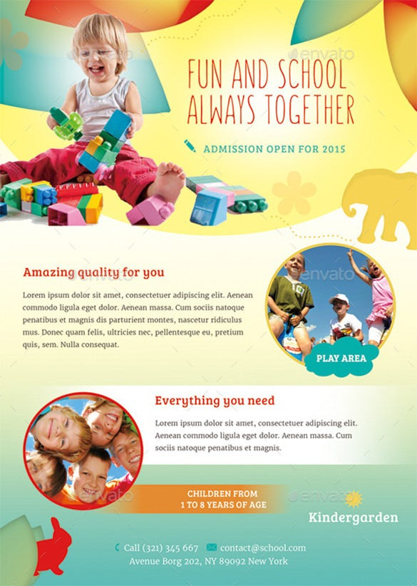 daycare flyer template  u2013 24  free psd  ai  vector eps