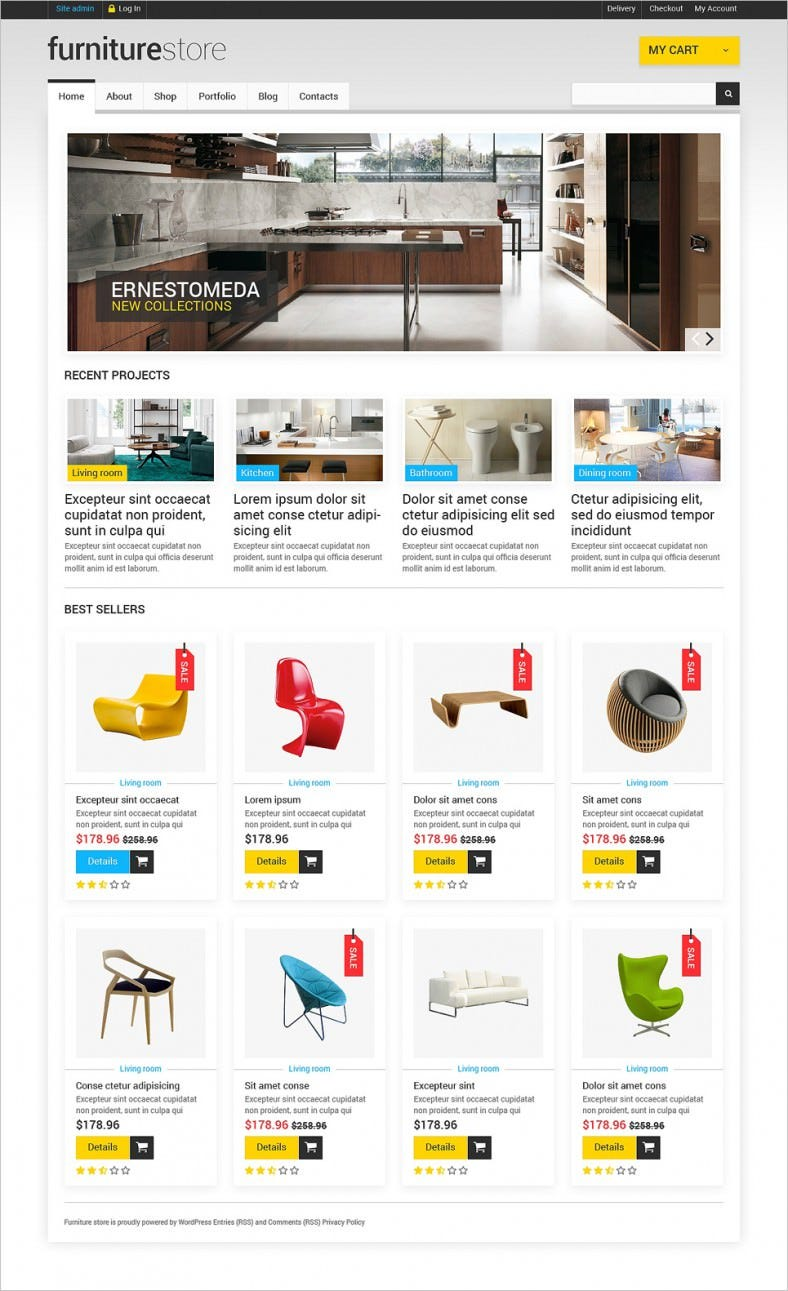 Woocommerce Template | Furniture Woocommerce Website Templates Themes Free Premium
