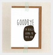 goodbye farewell card