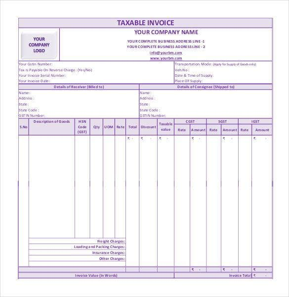 French Toast Receipt Word Microsoft Invoice Template   Free Word Excel Pdf  Free  I Confirm Receipt Of Your Email Excel with Invoice In English Gst Invoice Format In Pdf Invoice Of Purchase