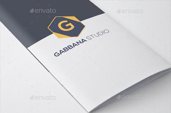 gabbana studio try fold brochur design template