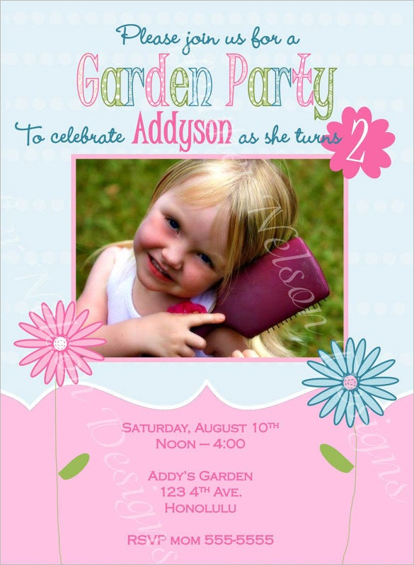 garden birthday party invitation template 10