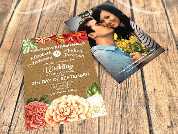 garden party wedding invitation template 6