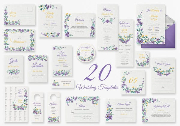 garden wedding templates in all formats
