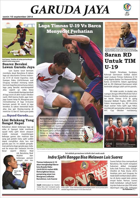 garudajaya newspaper layout free download