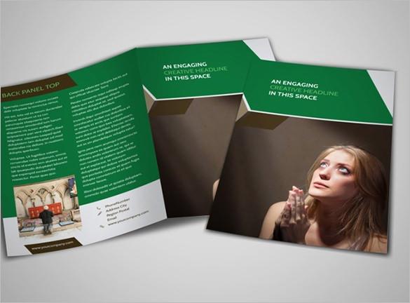 general church a4 bi fold brochure template