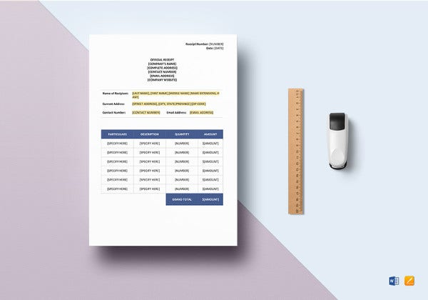 general receipt excel template1