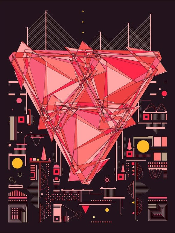 geometric graphic design by eric frommelt
