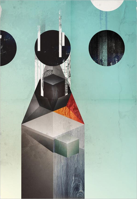 geometric poster illustration by kasper pyndt