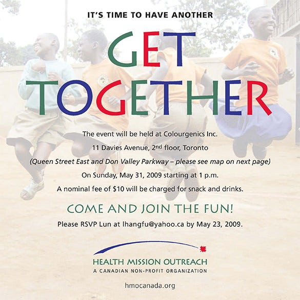 get together invitation wording sample
