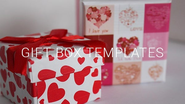 gift box templates.