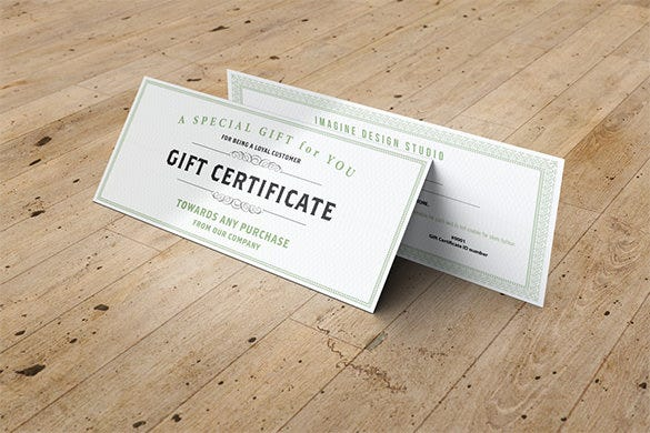 gift certificate of achievement template