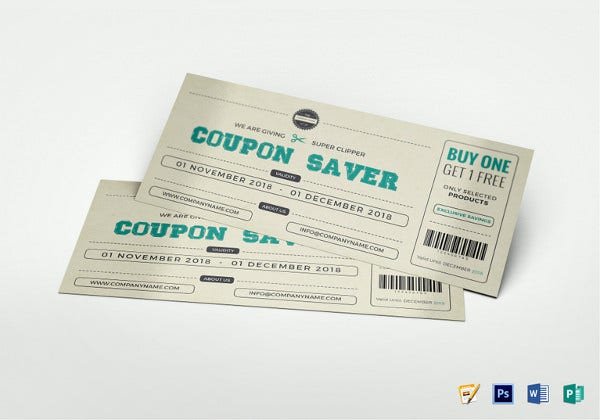 gift coupon template in ipages