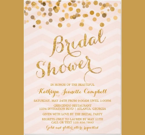 photograph regarding Free Printable Wedding Shower Invitations referred to as 33+ PSD Bridal Shower Invites Templates No cost Quality