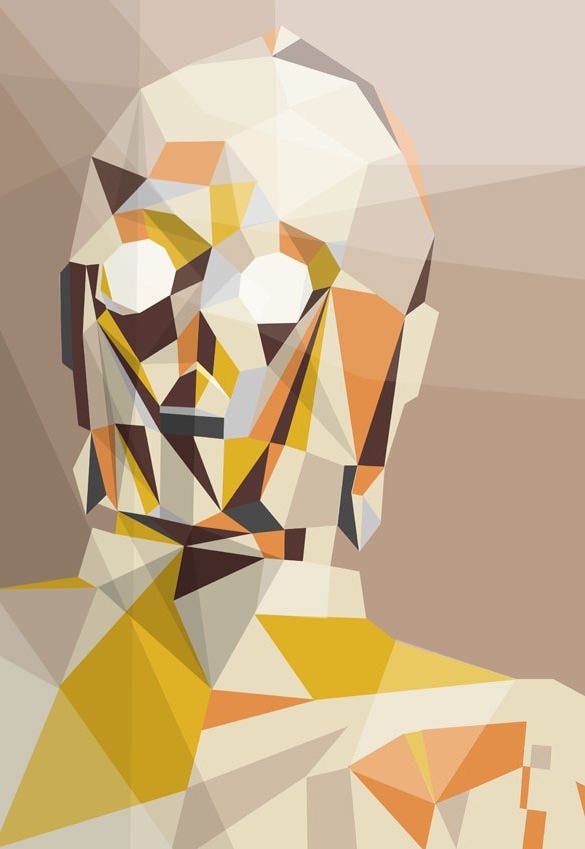 golden one geometric illustration