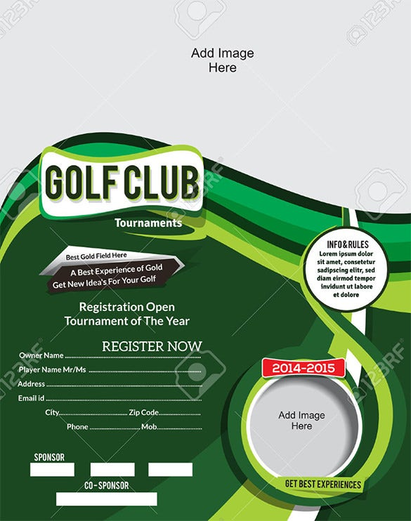 golf invitation template illustration