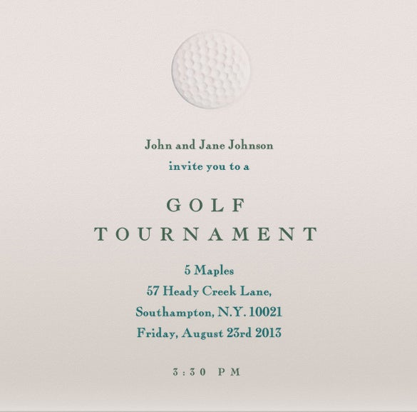 golf outing invitations template free online