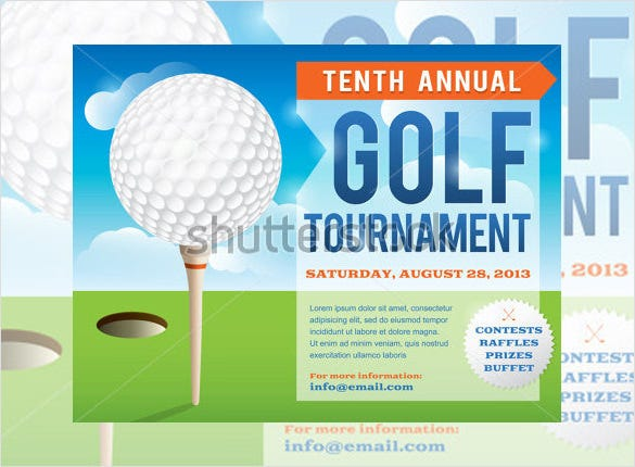 golf tournament invitation template design