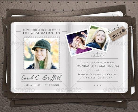 graduation announcement flyer template psd