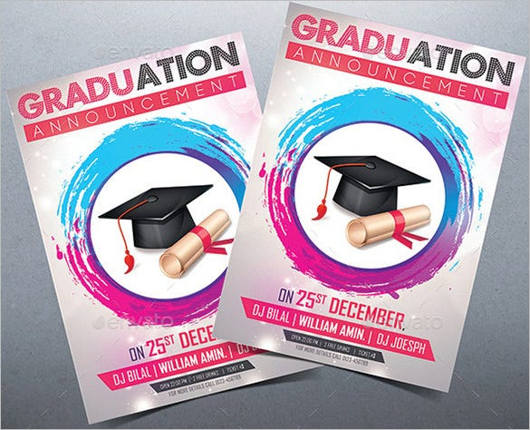 Fantastic PSD Graduation Announcement Templates Free Premium - Free graduation announcements templates