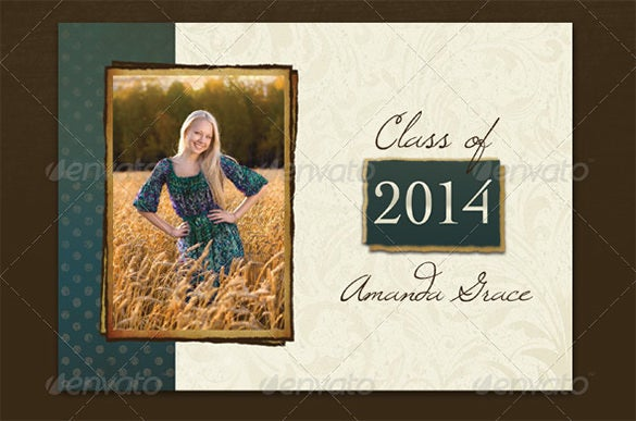 20 fantastic psd graduation announcement templates free for Free senior templates for photoshop